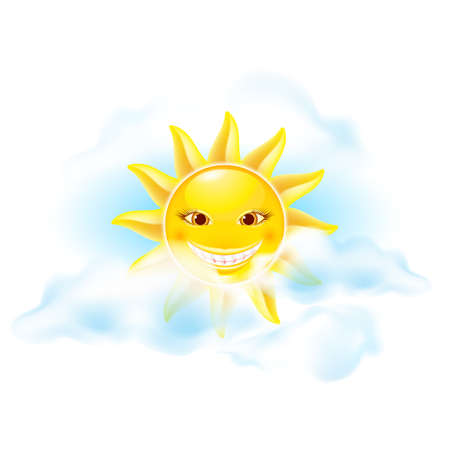 Cartoon sun. Set of sixth. See other works in my portfolio Vector