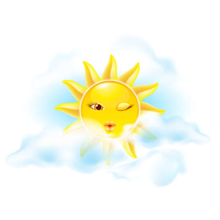 Cartoon sun. Set the first. See other works in my portfolio Stock Vector - 14235472