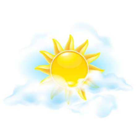 Cartoon sun. See other works in my portfolio Vector