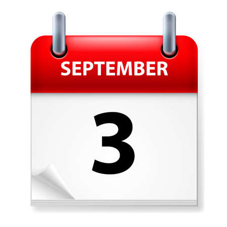 calendar september: Third September in Calendar icon on white background