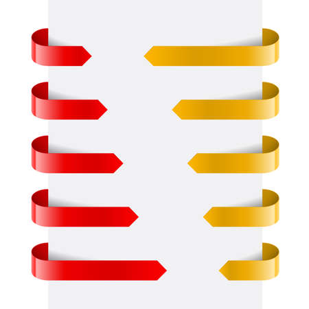Red and Yellow Web Arrows. Illustration on white background Stock Vector - 14235502