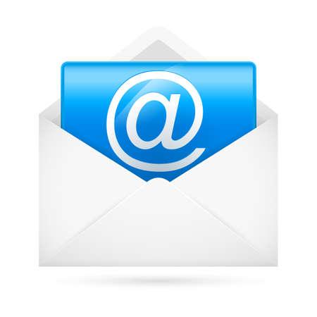 Hot e-mail. Illustration for design on white background Vector