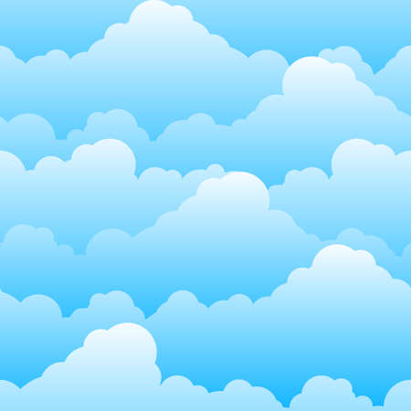 Seamless texture of beautiful clouds. Illustration for design Vector