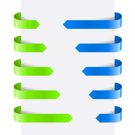 Green and Blue Web Arrows. Illustration on white background Stock Vector - 14331333