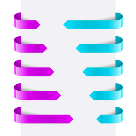 Magenta and Cyan Web Arrows. Illustration on white background Stock Vector - 14331336