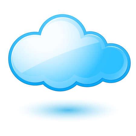 bulut: Özet bulut. Tasarım için beyaz zemin üzerine İllüstrasyon