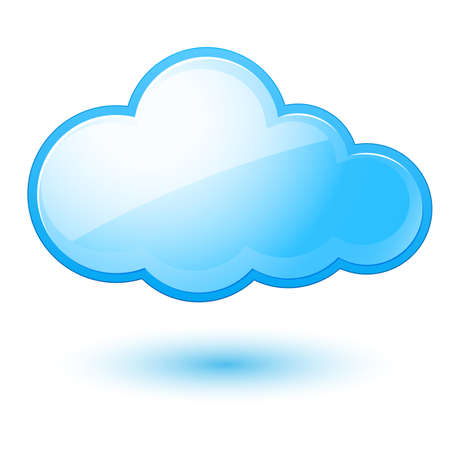 Abstract cloud. Illustration on white background for design