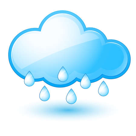 Mostly rain. Illustration on white background for design Vector