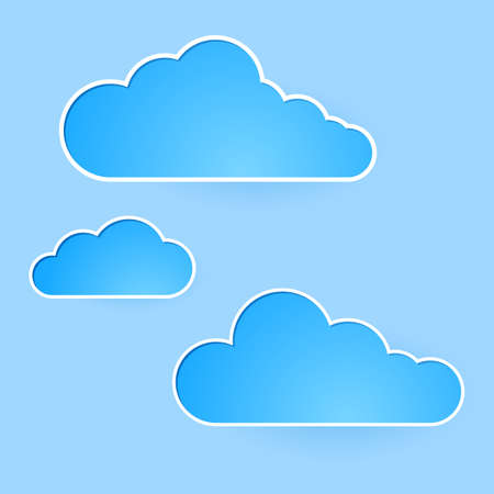 Abstract clouds. Illustration on blue background for design Vector