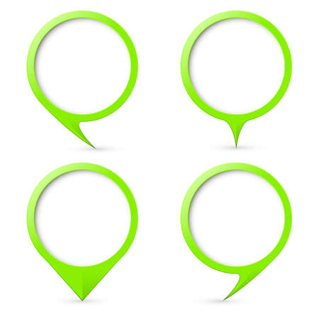 text marker: Green map text marker.  Illustration for design on white background