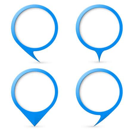 text marker: Blue map text marker. Illustration for design on white background Illustration