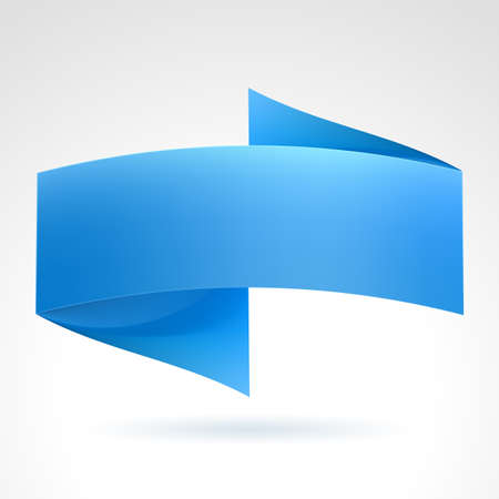 ribbon award: Blue Wave Banner. Illustration on white background for design