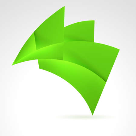 Abstract Green Design Element. Illustration on white Vector