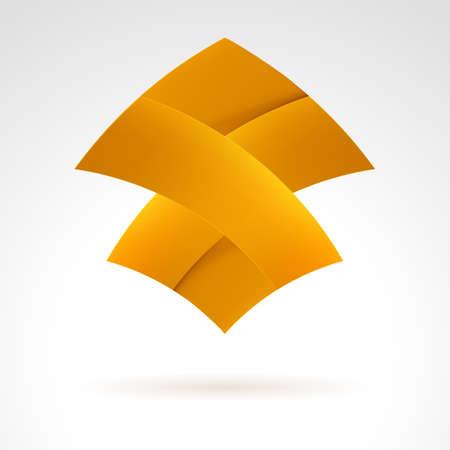 merge: Abstract Brown Web Element. Illustration on white Illustration
