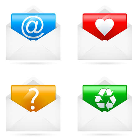 chatbox: Set of E-mail icons. Illustration on white background Illustration
