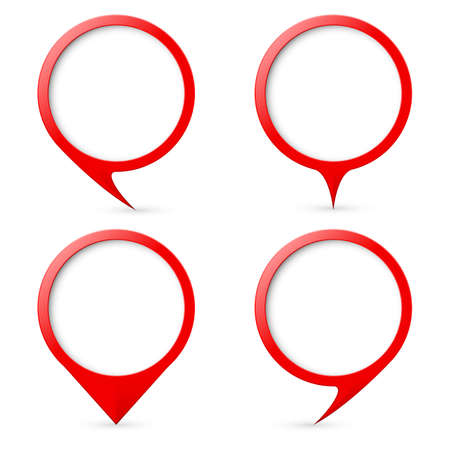text marker: Red map text marker.  Illustration for design on white background