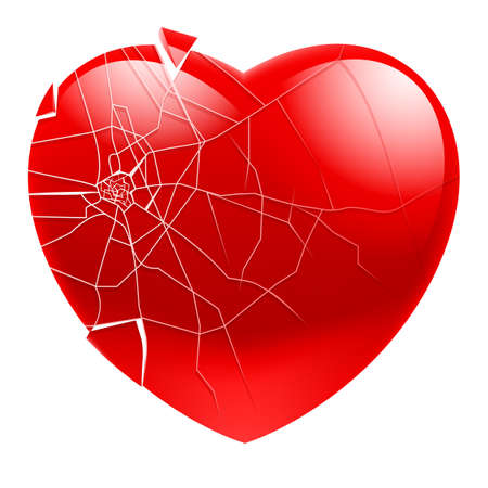 Broken Heart.  Illustration for design on white background Stock Vector - 14413911