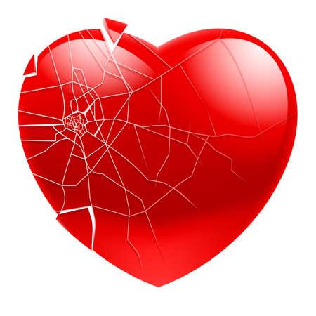 Broken Heart.  Illustration for design on white background Stock Vector - 14413911