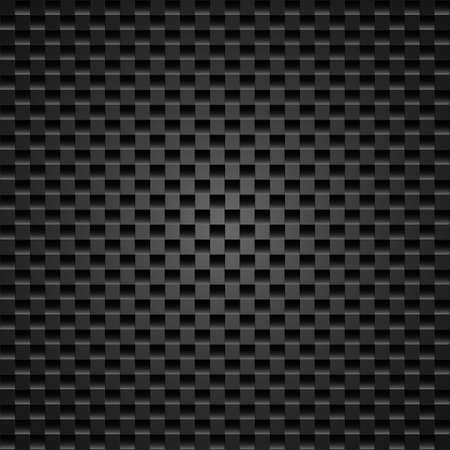 carbon fibre: Realistic dark carbon fiber weave background or texture