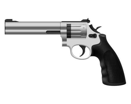 Revolver. Illustration on white background for design Stock Vector - 14447626