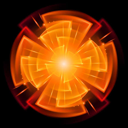Abstract Star Explosion. Illustration on black background for design Vector