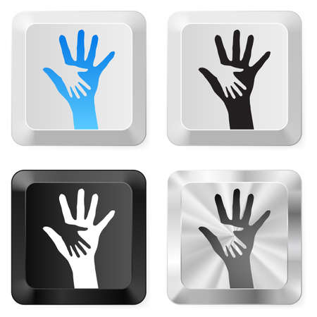 Set of Help Buttons. Illustration on white Stock Vector - 14447637