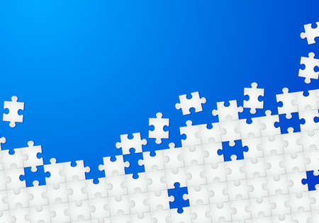 puzzle piece: Puzzle abstracta con fondo azul. Ilustraci�n para el dise�o