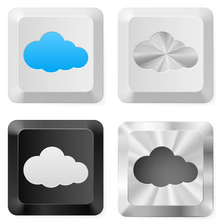 Clouds on the buttons. Illustration for design on white background Vector