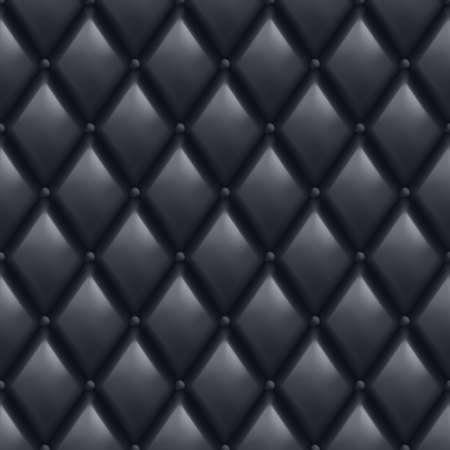 Black Leather Background. Abstract illustration of designer. Vector