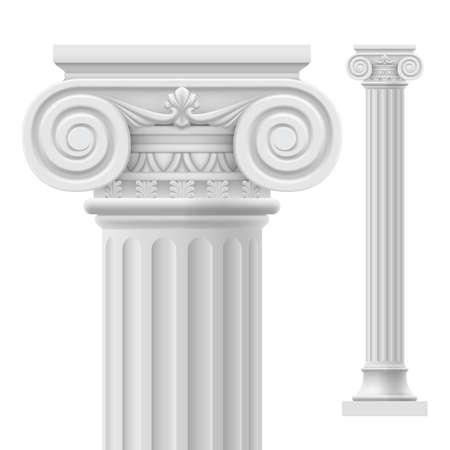 templo romano: Columna romana. Ilustración sobre fondo blanco para el diseño