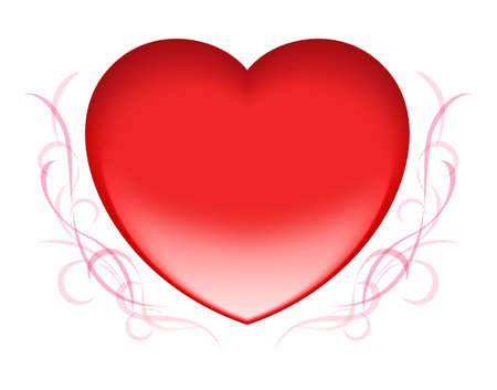 Red heart icon for valentine's day Stock Vector - 14562129