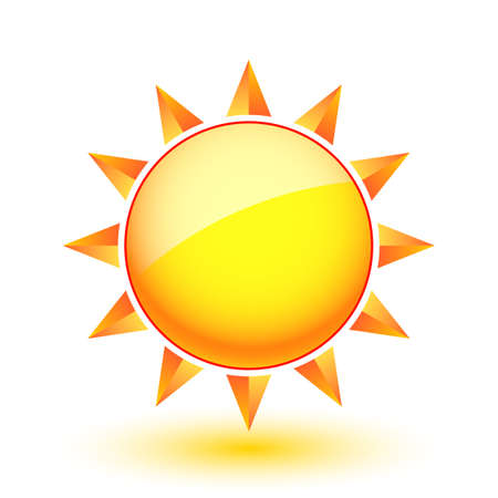 Sun icon. Illustration on white background for Web-design Stock Vector - 14657587