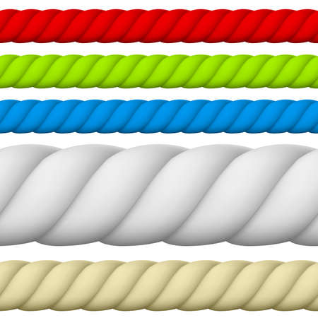 texture twisted: Illustration of Different size and color Rope. Illustration