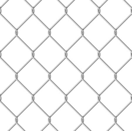 Wire Fence Seamless. Illustration on white background for design Stock Illustration - 14853771