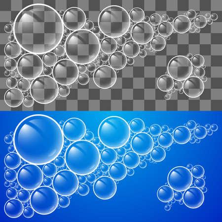 bulles de savon: Refroidir les bulles de savon transparent. Illustration pour la conception