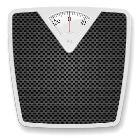 ванная комната: Весы вес. Иллюстрация на белом фоне