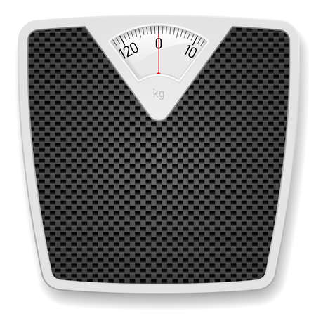 nutrition health: Bathroom Weight Scale. Illustration on white background