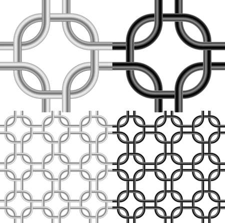 Metal Mesh. Illustration on White background for design Stock Vector - 14887150