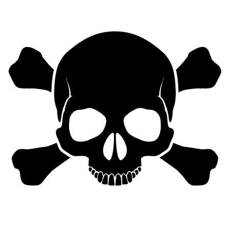 calavera pirata: La advertencia de marca de una oportunidad de la derrota por una corriente eléctrica, y otros peligros