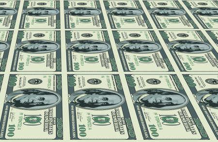 stapel papieren: Dollars achtergrond. Illustratie voor uw creatief ontwerp