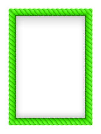 Green Rope Border. Illustration on white background Vector
