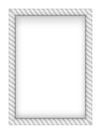western border: White Rope Border. Illustration on white background Illustration