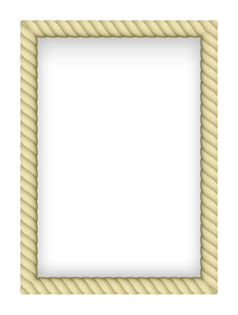 border line: Yellow Rope Border. Illustration on white background Illustration