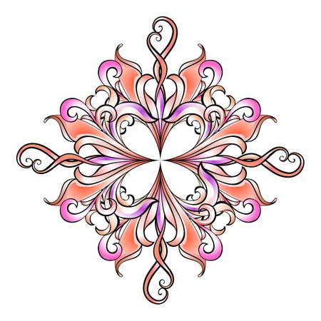 trendy shape: Floral element for design. Illustration on white Illustration