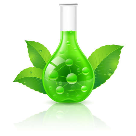 green chemistry: Alternative Medicine Concept. Illustration on white background