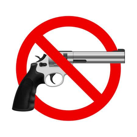 갱: 기호 없음 총. 흰색 배경에 그림 일러스트
