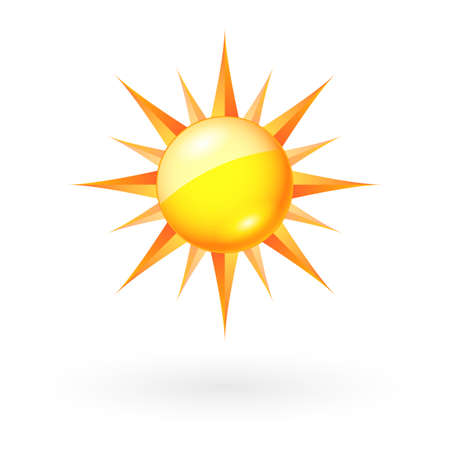 Abstract Sun icon. Illustration on white background for Web-design Stock Vector - 15333652