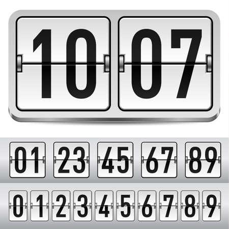 display type: N�meros de panel de mec�nica gris. Ilustraci�n para el dise�o