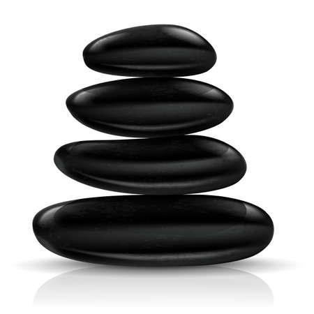 Stones spa. Illustration on white background for design Vector
