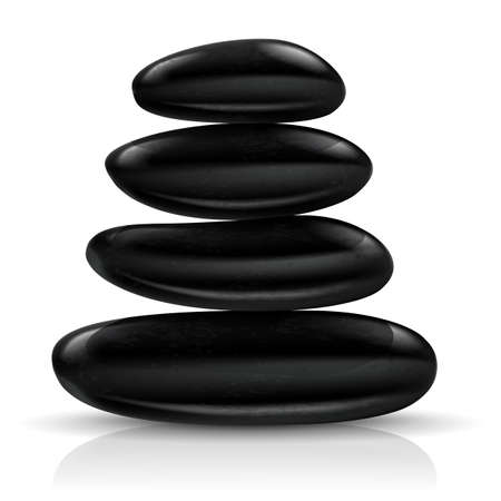 meditation stones: Stones spa. Illustration on white background for design Illustration